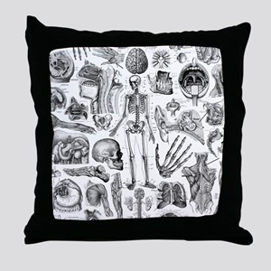anatomy_W_twin_duvet Throw Pillow