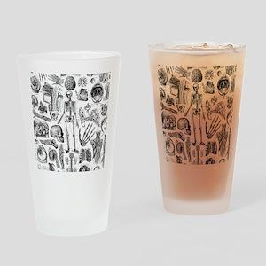 anatomy_W_twin_duvet Drinking Glass