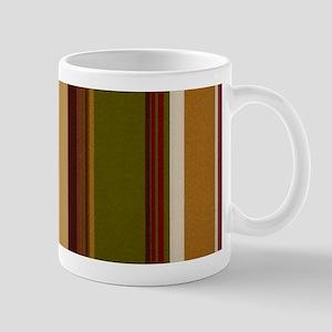 Warm Fall Colored Stripe Mugs