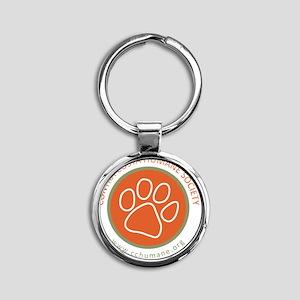 CCHS paw round logo with web site Round Keychain