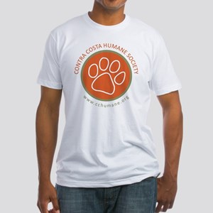 CCHS paw round logo with web site Fitted T-Shirt