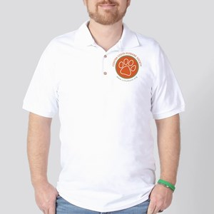 CCHS paw round logo with web site Golf Shirt