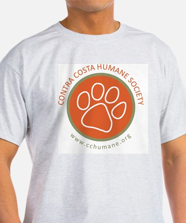 CCHS paw round logo with web site T-Shirt