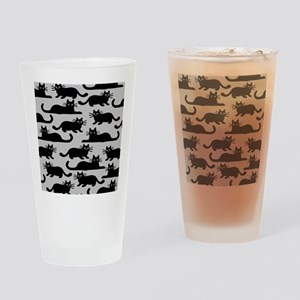 catspattern Drinking Glass