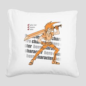 Hero Square Canvas Pillow
