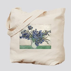Vase with Irises - Van Gogh - c1890 Tote Bag