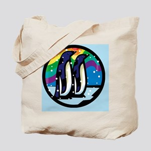 Rainbow Penguin Tote Bag