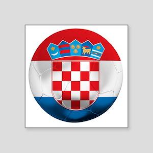 "Croatia Square Sticker 3"" x 3"""