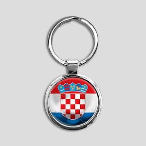 Croatia Round Keychain