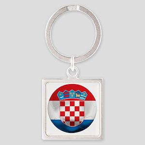 Croatia Square Keychain