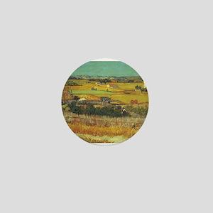 The Harvest - Van Gogh - c1888 Mini Button