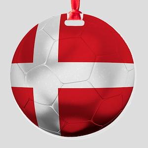 Denmark Football Round Ornament