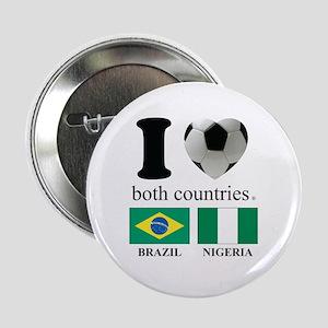 """BRAZIL-NIGERIA 2.25"""" Button"""