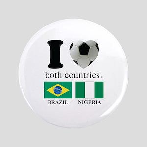 """BRAZIL-NIGERIA 3.5"""" Button"""