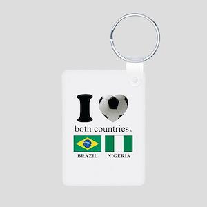BRAZIL-NIGERIA Aluminum Photo Keychain