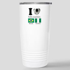 BRAZIL-NIGERIA Stainless Steel Travel Mug