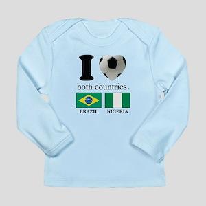 BRAZIL-NIGERIA Long Sleeve Infant T-Shirt