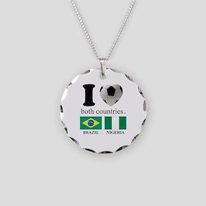 BRAZIL-NIGERIA Necklace Circle Charm