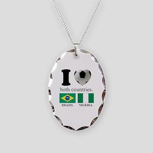 BRAZIL-NIGERIA Necklace Oval Charm