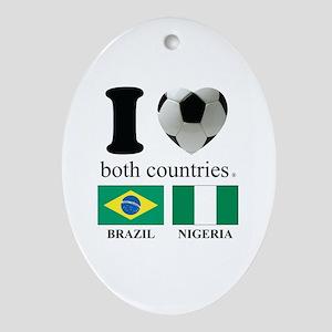 BRAZIL-NIGERIA Ornament (Oval)
