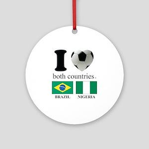 BRAZIL-NIGERIA Ornament (Round)