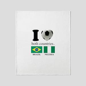 BRAZIL-NIGERIA Throw Blanket
