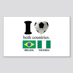 BRAZIL-NIGERIA Sticker (Rectangle)