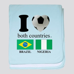 BRAZIL-NIGERIA baby blanket