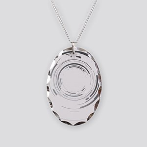 Abstract lens Necklace Oval Charm