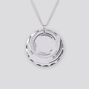 Abstract lens Necklace Circle Charm