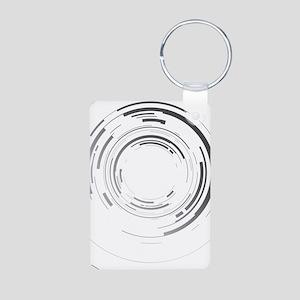 Abstract lens Aluminum Photo Keychain