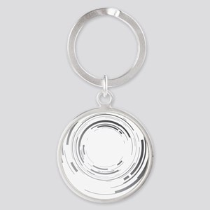 Abstract lens Round Keychain