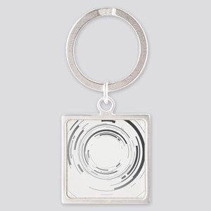 Abstract lens Square Keychain
