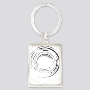Abstract lens Portrait Keychain