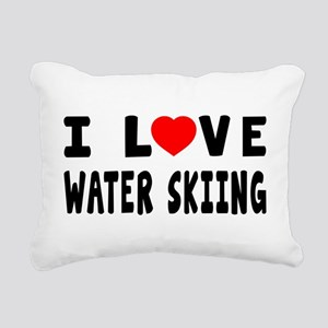 I Love Water Skiing Rectangular Canvas Pillow