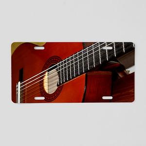 Classic Guitar Aluminum License Plate