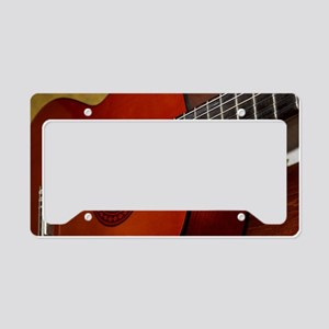 Classic Guitar License Plate Holder