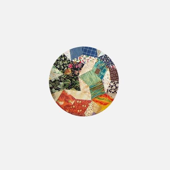 Colorful Patchwork Quilt Mini Button