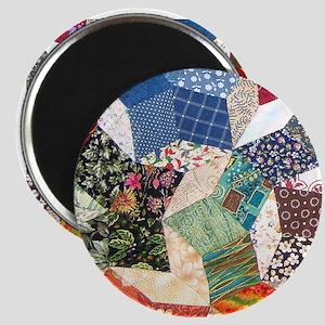 Colorful Patchwork Quilt Magnet