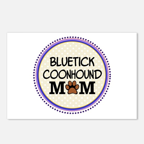 Bluetick Coonhound Dog Mom Postcards (Package of 8