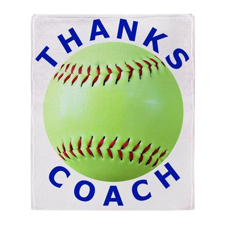 Softball Coach Thank You Unique Gift Throw Blanket By AdminCP40 Magnificent Softball Throw Blanket