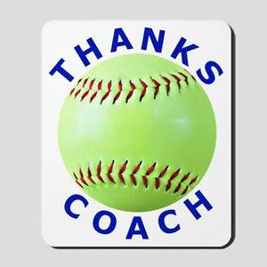 Softball Coach Thank You Unique Gifts Mousepad