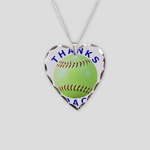 Softball Coach Thank You Uniq Necklace Heart Charm