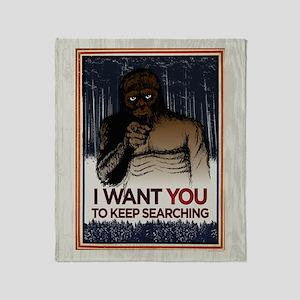 Keep Searching Throw Blanket