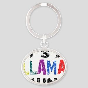 llamathing Oval Keychain