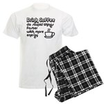 Drink Coffee Cute and Funny Men's Light Pajamas
