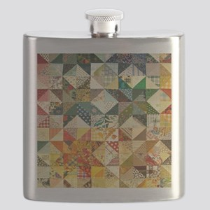 Fun Patchwork Quilt Flask