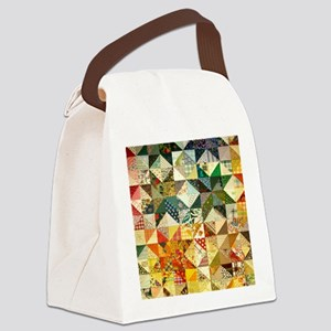 Fun Patchwork Quilt Canvas Lunch Bag