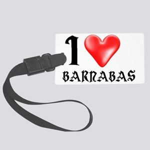 I LUV Barnabas  Large Luggage Tag
