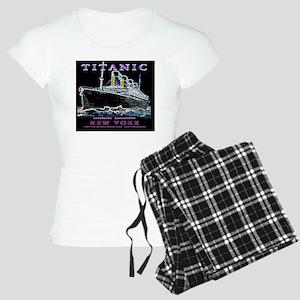 TG9WineLabelPlain Women's Light Pajamas